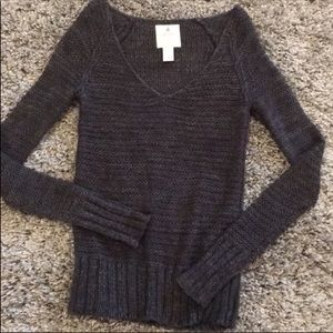Aerie  Charcoal V Neck Sweater